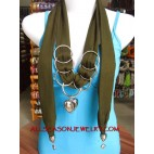 necklaces scarf with stainless