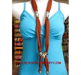 scarves stainless necklace