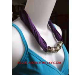 stainless fabric necklace