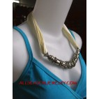 stainless fabrics necklace