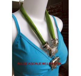 stainless necklace scarves