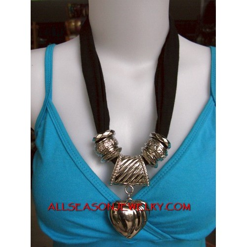 stainless necklaces scarf
