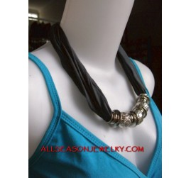 women scarf necklaces