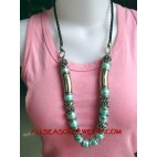 Acrylic Bead Stone Necklace