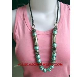 Acrylic Bead Stone Necklace
