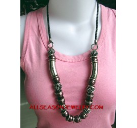 Bali Acrylic Beads Necklace
