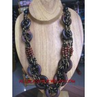 Necklaces Bead Wood Charm