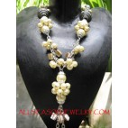 Chunky Beads Pearls Necklace