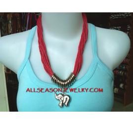 Cotton String Necklaces Charm