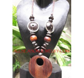 Wooden Necklaces Pendants