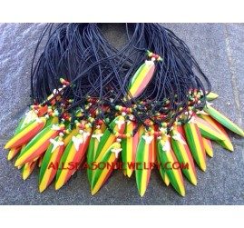 Rasta Necklaces Surf Board
