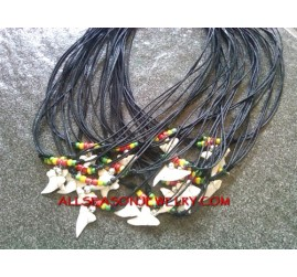 Rasta Necklaces Shark Tooth