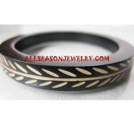 Bangle Wooden Carved