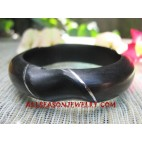 Bangle Wooden Stainless