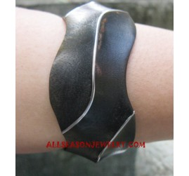 Bangle Wooden Stainless Steel
