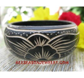 Carvings Wood Bangle