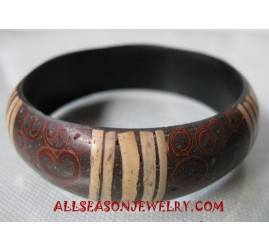 Coconuts Wooden Bangle