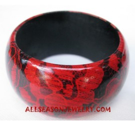 Fashion Wood Bangle Painting