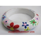 Flower Bangle Wooden
