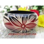 Flower Wooden Bangle