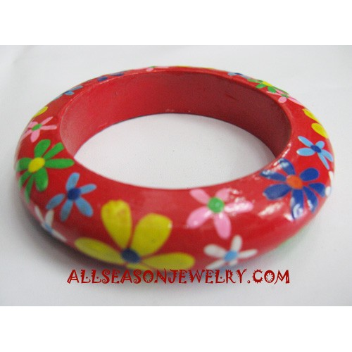 Flowers Wood Bangle