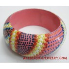 Handpainted Bangles Wood