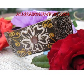 Handpainted Wood Bangles