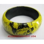 Handpainting Bangle Wood