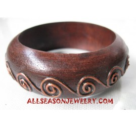Handpaintings Bangle Wood