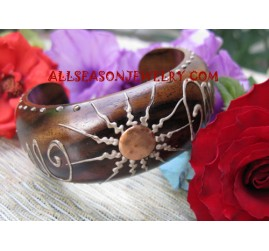 Handpaintings Bangles Wood