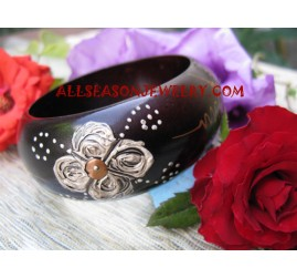 Handpaintings Bangles Woods