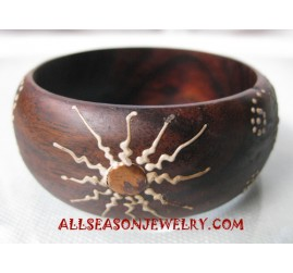 Handpaintings Wood Bangle
