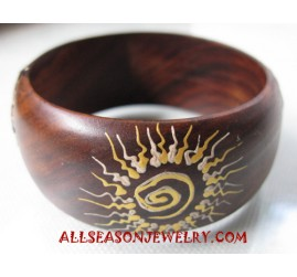 Handpaintings Wooden Bangles
