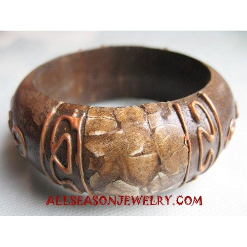 Painted Wood Bangle