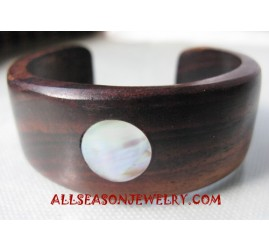 Shell Wooden Bangles