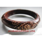 Small Wood Bangle Painted