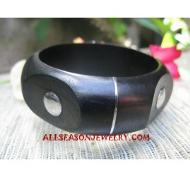 Stainless Bangle Wooden