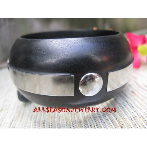 Stainless Bangle Woods