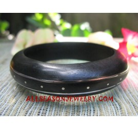 Stainless Wood Bangles