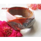 Wood Bangle Handpainted