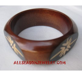 Wood Bangles Carved