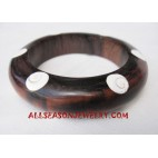 Wood Shell Bangle