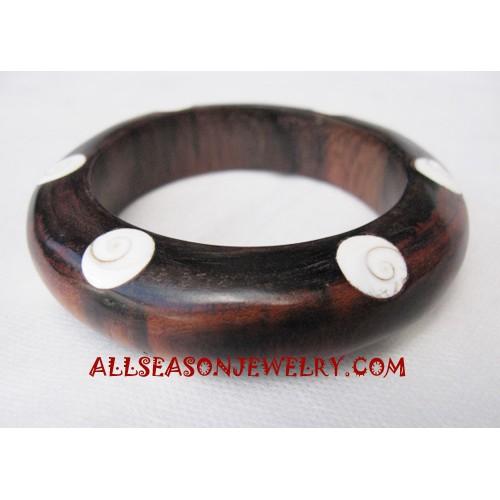 Wood Shell Bangle
