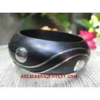 Wood Stainless Bangles