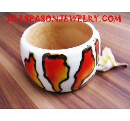 Wooden Bangle Painting
