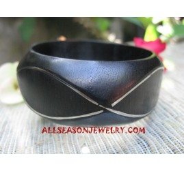 Wooden Bangles Stainless