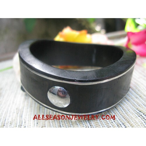 Woods Bangle Stainless