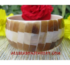 Bangle Resin Seashells
