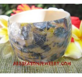 Bangle Seashells Resin