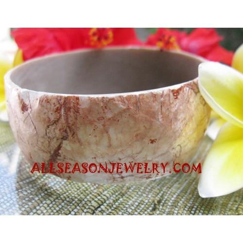 Resin Seashell Bangle